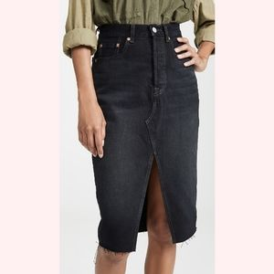 NWT Levi's High-Rise Deconstructed Midi Skirt